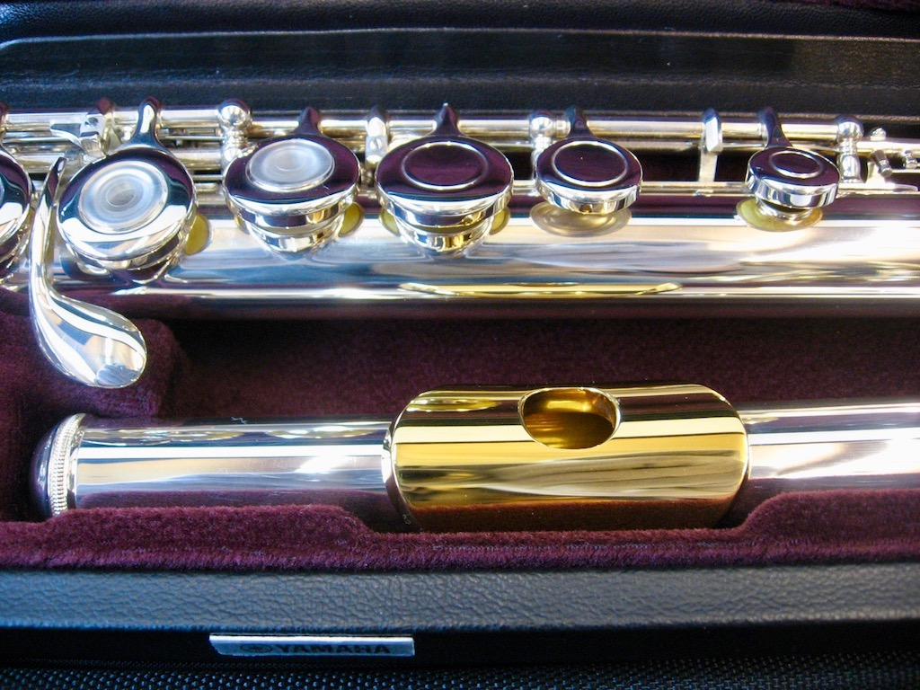 Yamaha Flute YFL-471GL Silver Head and body 925