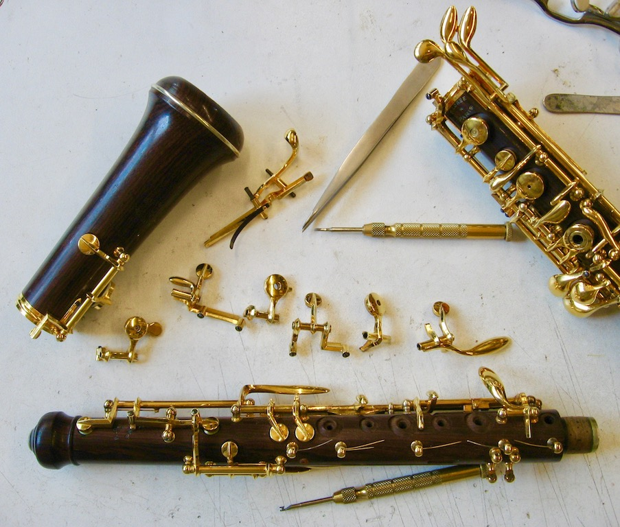 Oboe repair, overhaul, cleaning