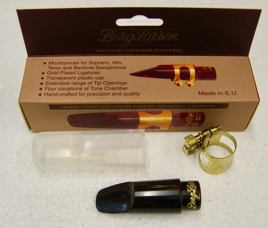 Mouthpiece Berg Larsen for Soprano Sax Grained Ebonite 70/3 M