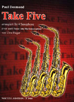 Take Five, Paul Desmond, für 4 Saxophone