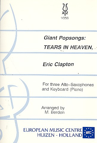 Tears in Heaven, Eric Clapton, for 3 Alto Saxophones and Piano