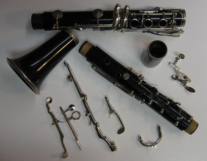 Clarinets repair, overhaul