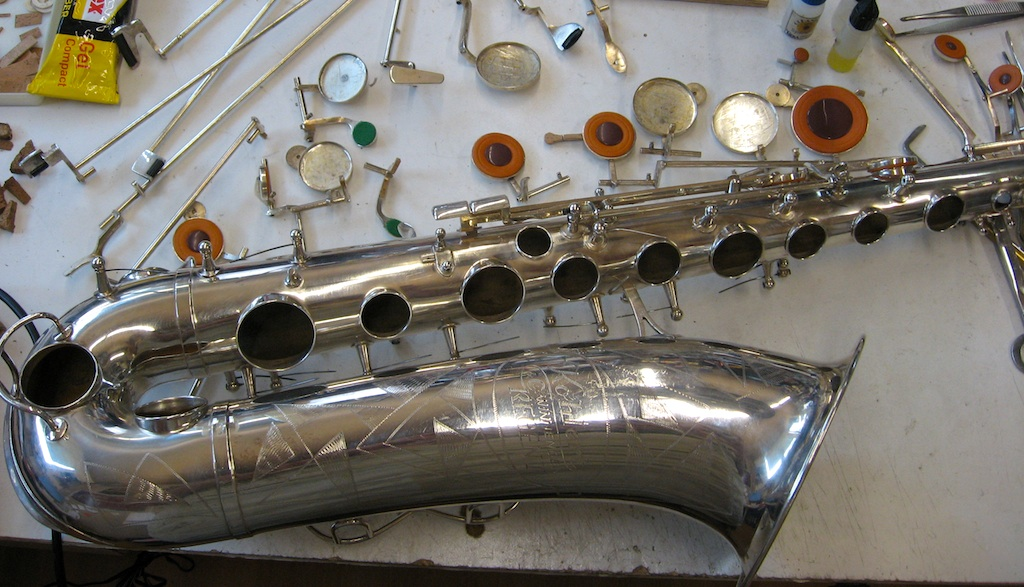 Saxophone repair, overhaul, cleaning
