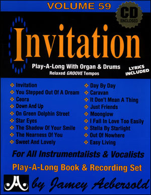 Volume 59 Invitation Play-a-long With Organ & Drums